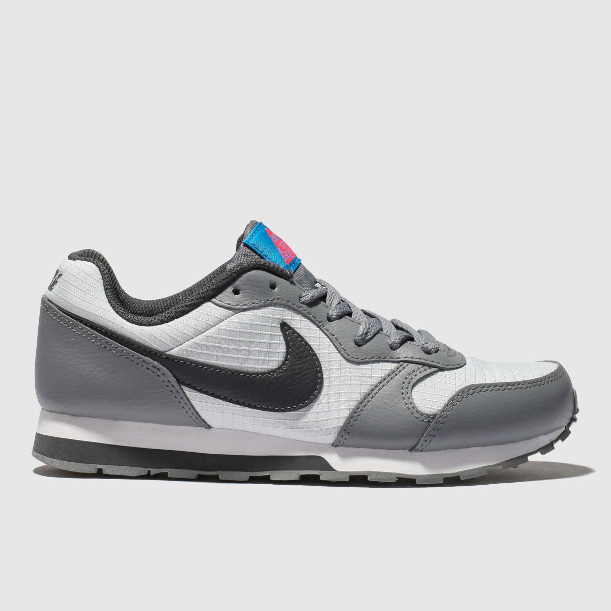 Nike White & Grey Md Runner 2 Trainers Youth