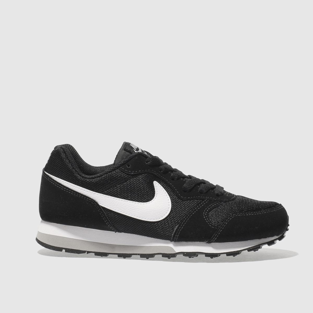 nike black & white md runner 2 Boys Youth Trainers