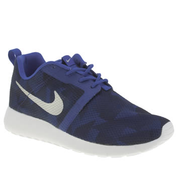 Nike Navy Roshe Run Flight Weight Boys Youth