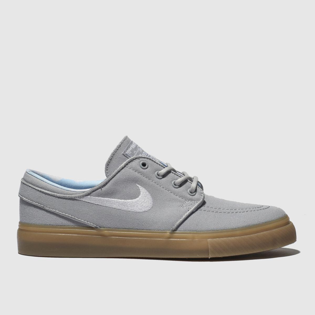 Nike Sb Light Grey Stefan Janoski Print Trainers Youth