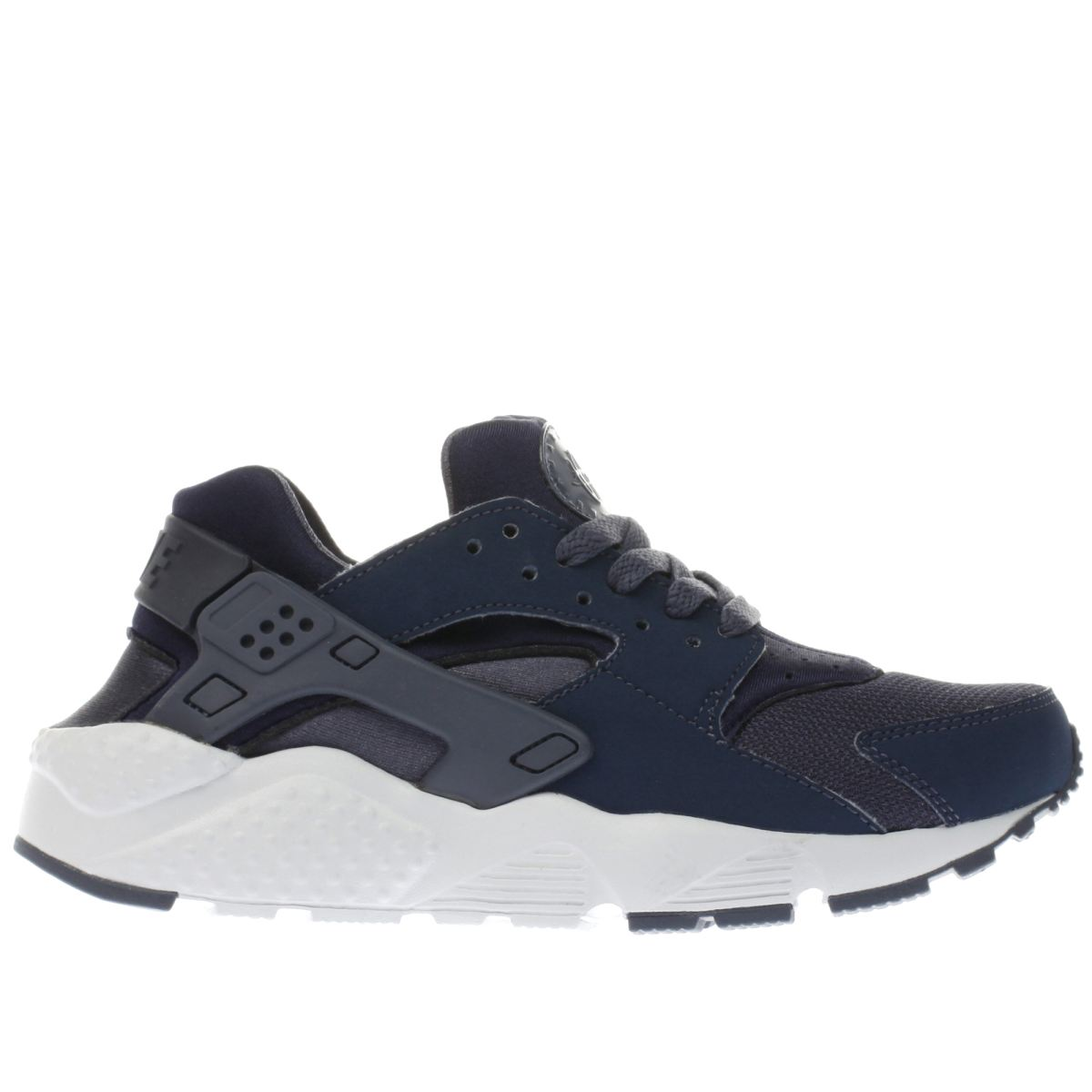 nike navy & white huarache run Boys Youth Trainers