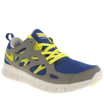 Boys Nike Grey & Lime Free Run 2-0 Boys Youth