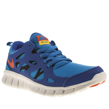 Nike Blue Free 2-0 Boys Youth