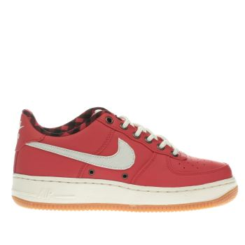 Nike Red Air Force 1 Lv8 Boys Youth