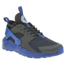 Nike Black and blue Huarache Run Ultra Boys Youth