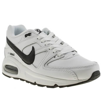 Nike White & Black Air Max Command Boys Youth