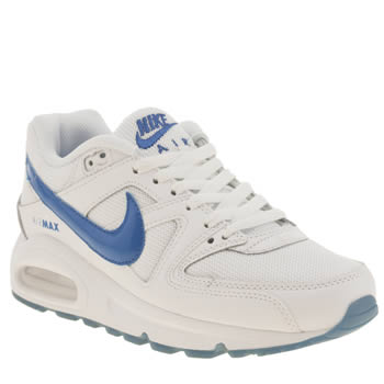 Nike White & Blue Air Max Command Boys Youth