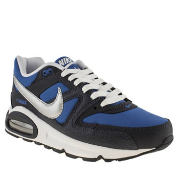 Boys Nike Black and blue Air Max Command Boys Youth