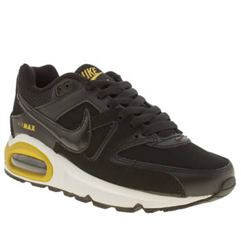 Nike Black & White Air Max Command Boys Youth