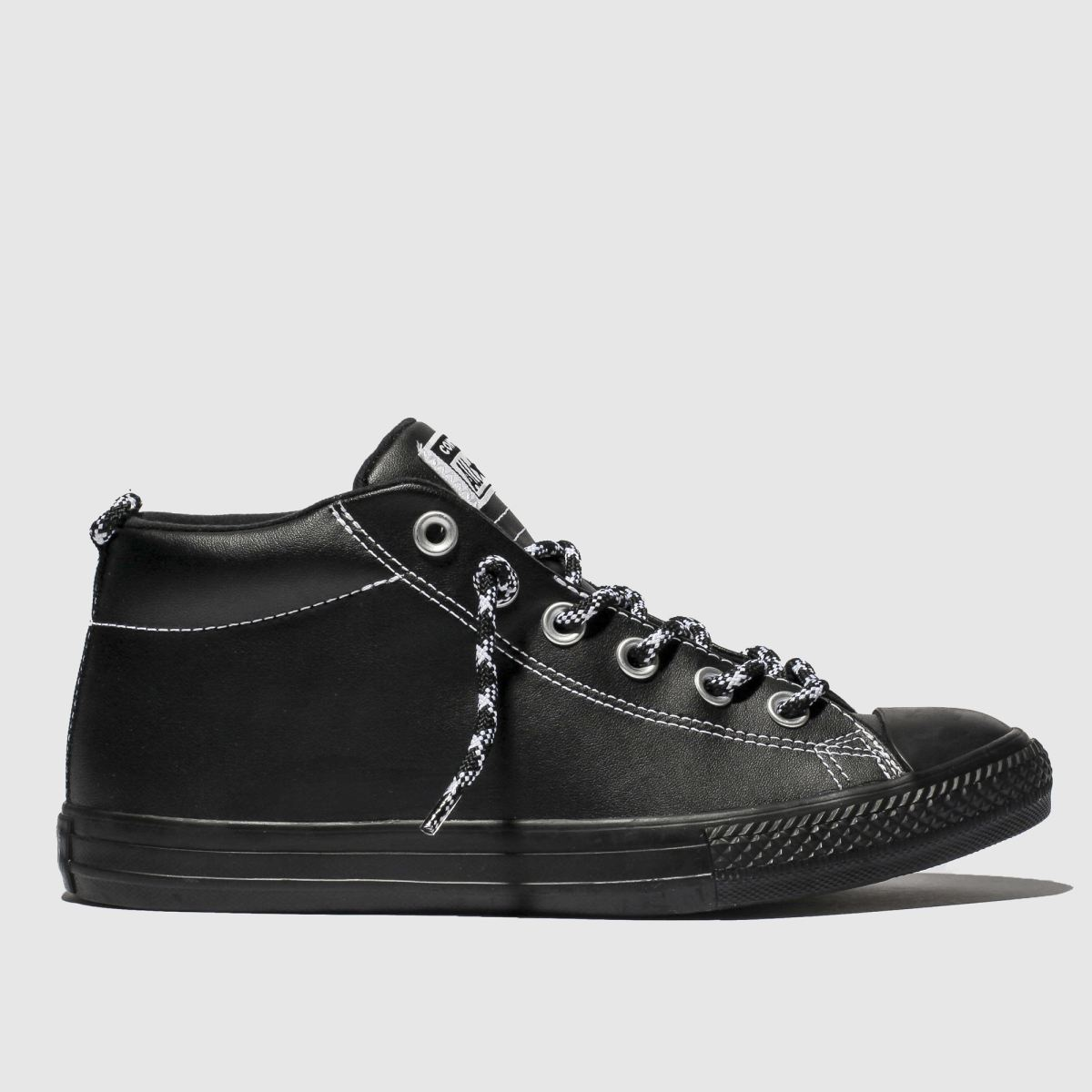 Converse Black & White All Star Street Mid Trainers Youth