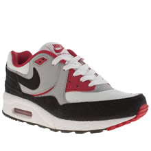 Youth White & Red Nike Air Max Light