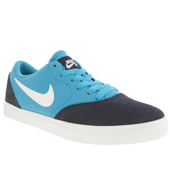 Boys Nike Skateboarding Blue Check Boys Youth