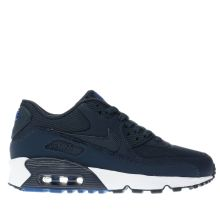 Nike Navy Air Max 90 Mesh Boys Youth