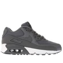 Nike Dark Grey Air Max 90 Mesh Yth Boys Youth