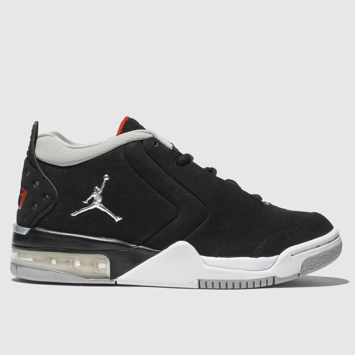 Nike Jordan Black & Silver Nike Jordan Big Fund Trainers Youth