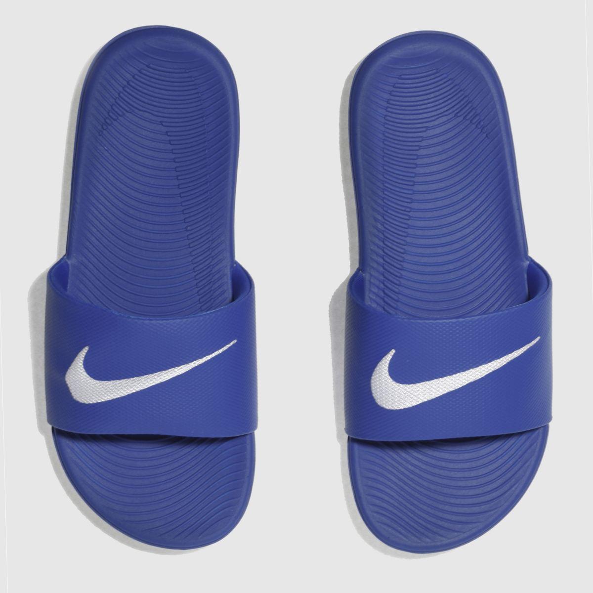 Nike Blue Kawa Slide Boys Youth Sandals