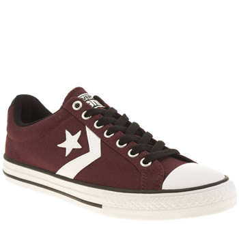 Boys Converse Burgundy Star Player Tre Star Boys Youth