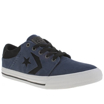 Boys Converse Navy & Black Star Player Tre Star Boys Youth