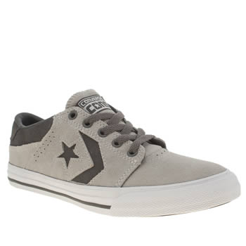 Boys Converse Light Grey Star Player Tre Star Boys Youth