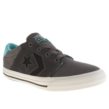 Boys Converse Dark Grey Star Player Tre Star Boys Youth