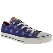 Youth Blue Converse All Star Ox