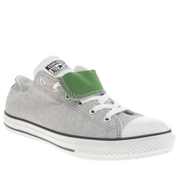Converse Grey & Green All Star Double Tongue Boys Youth