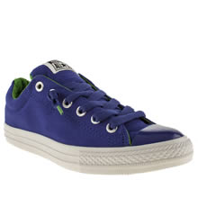 Youth Blue Converse All Star Street