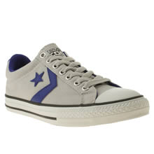 Youth Grey & Navy Converse Star Player Ox