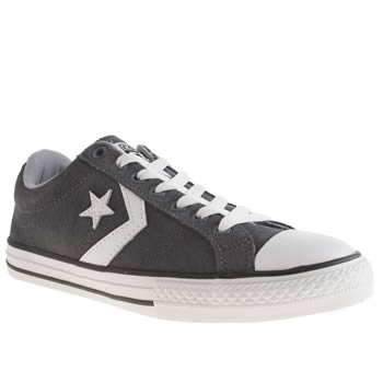 Boys Converse Dark Grey Cons Star Player Ox Yth Boys Youth