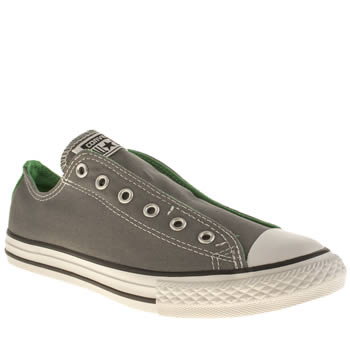 Boys Converse Grey Chuck Taylor Slip On Oxford Boys Youth