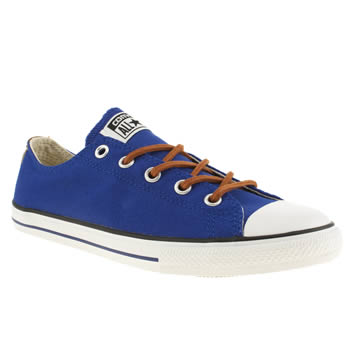 kids converse blue all star east coaster trainers
