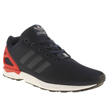 Adidas Navy & Red Zx Flux Boys Youth
