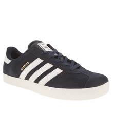 Adidas Navy & White Gazelle 2 Boys Youth