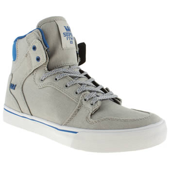 Supra Light Grey Vaider Boys Youth