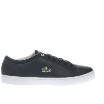 LACOSTE NAVY STRAIGHTSET BOYS YOUTH TRAINERS