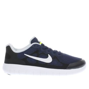 Nike Navy Free Rn 2 Boys Youth