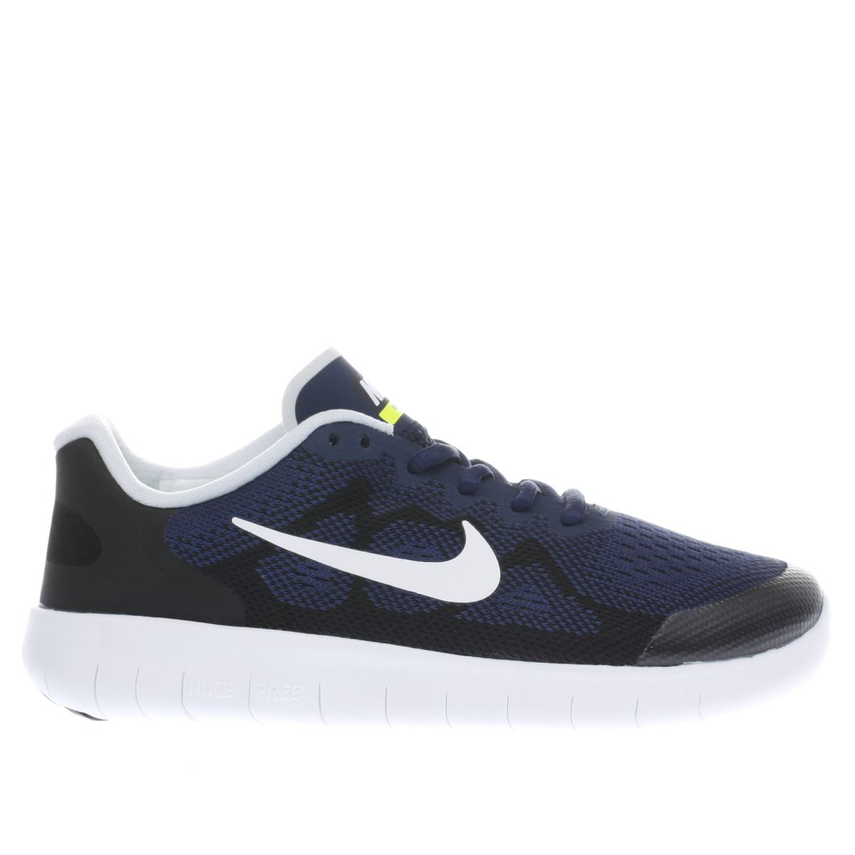 nike navy & black free rn 2 Boys Youth Trainers