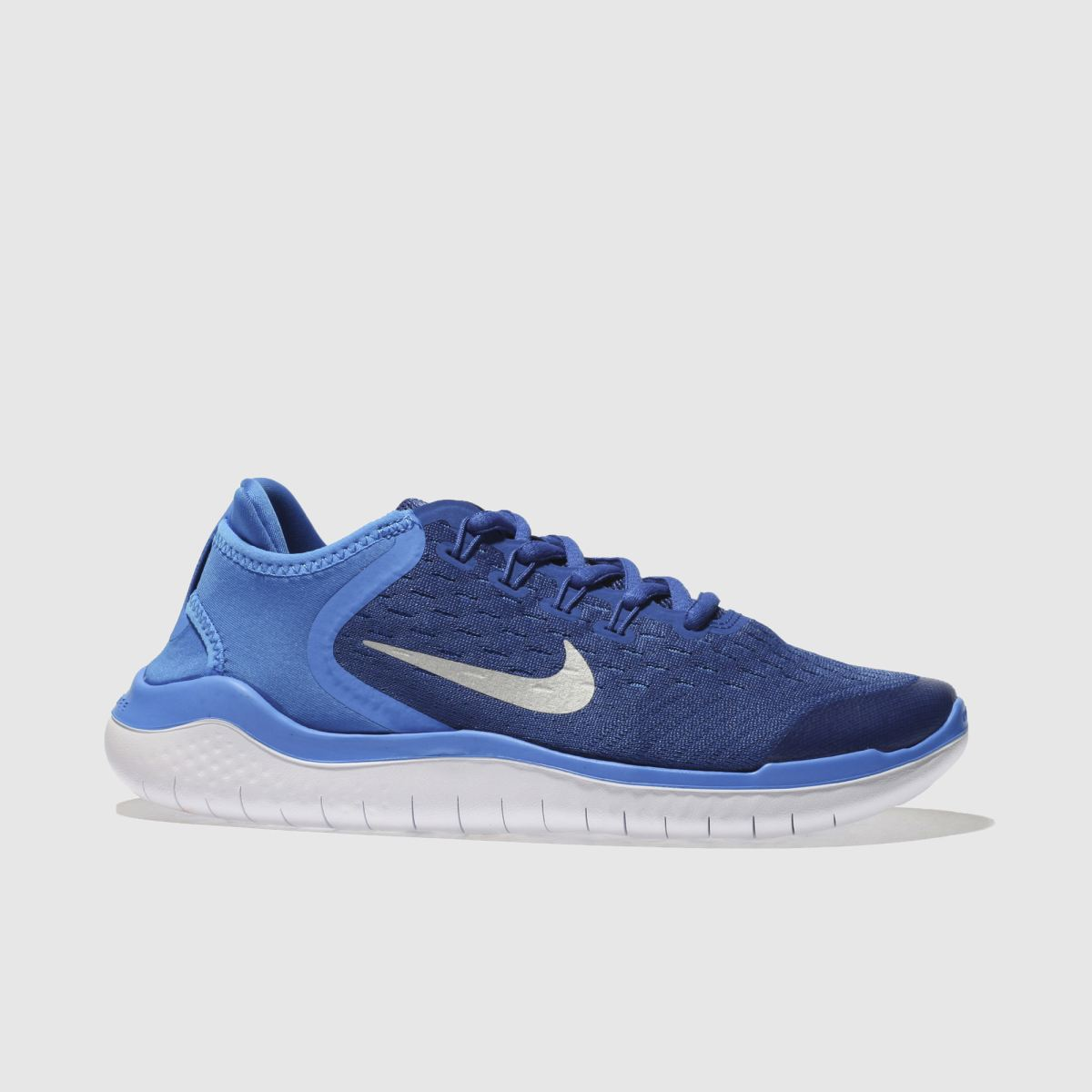 Nike Navy & White Free Rn 2018 Boys Youth Youth
