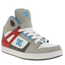 Dc Shoes White & grey Rebound Boys Youth