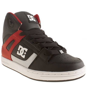Dc Shoes Black & Red Rebound Boys Youth