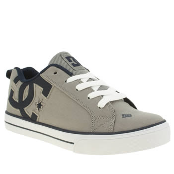 Dc Shoes Grey Court Graffik Vulc Tx Yth Boys Youth