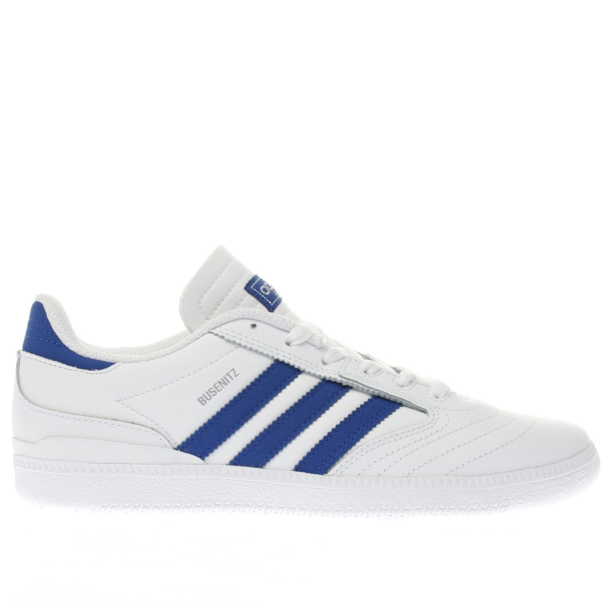 adidas white & navy busenitz Boys Youth Trainers