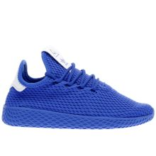 Adidas Blue Pharrell Williams Tennis Hu J Boys Youth
