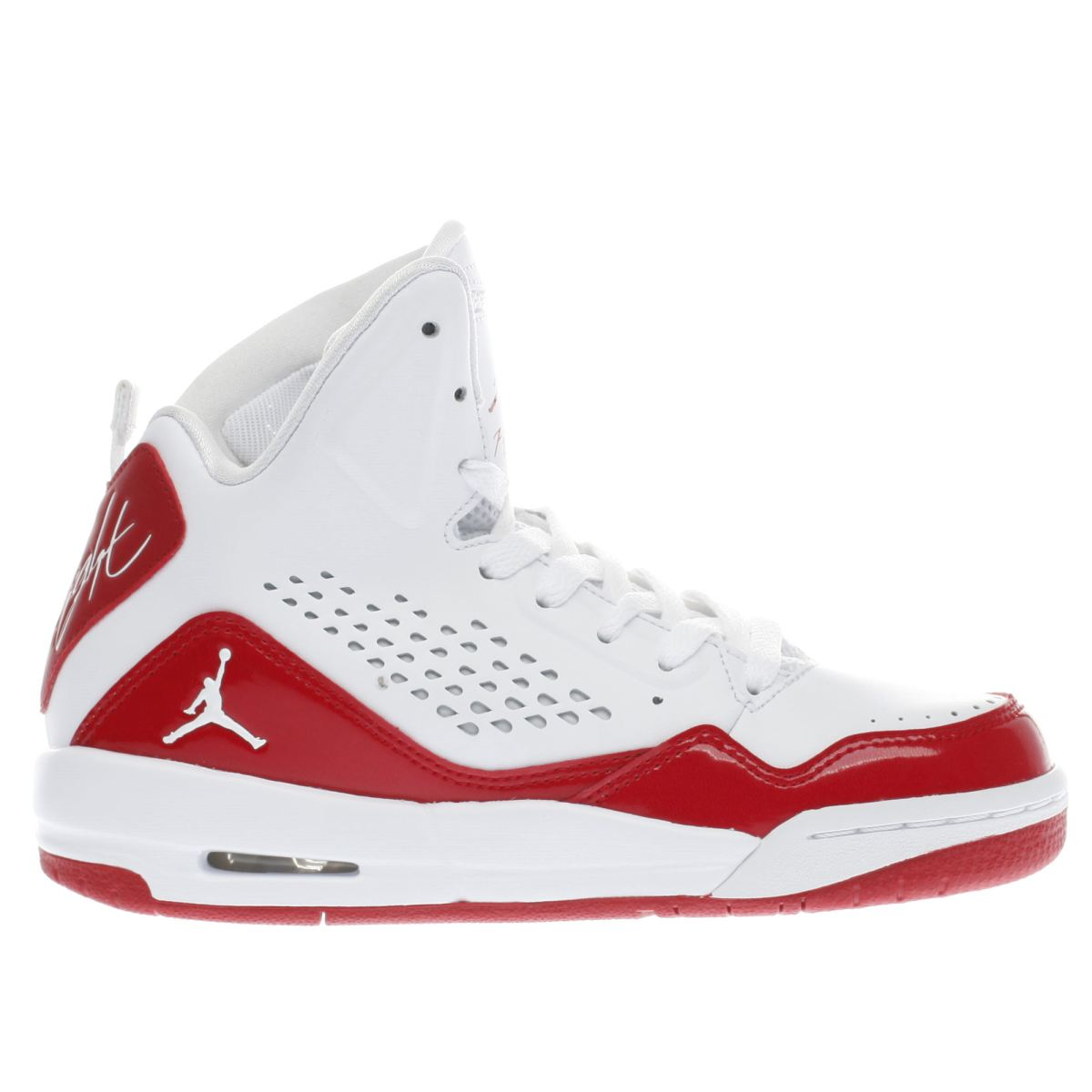 nike jordan white & red sc-3 Boys Youth Trainers