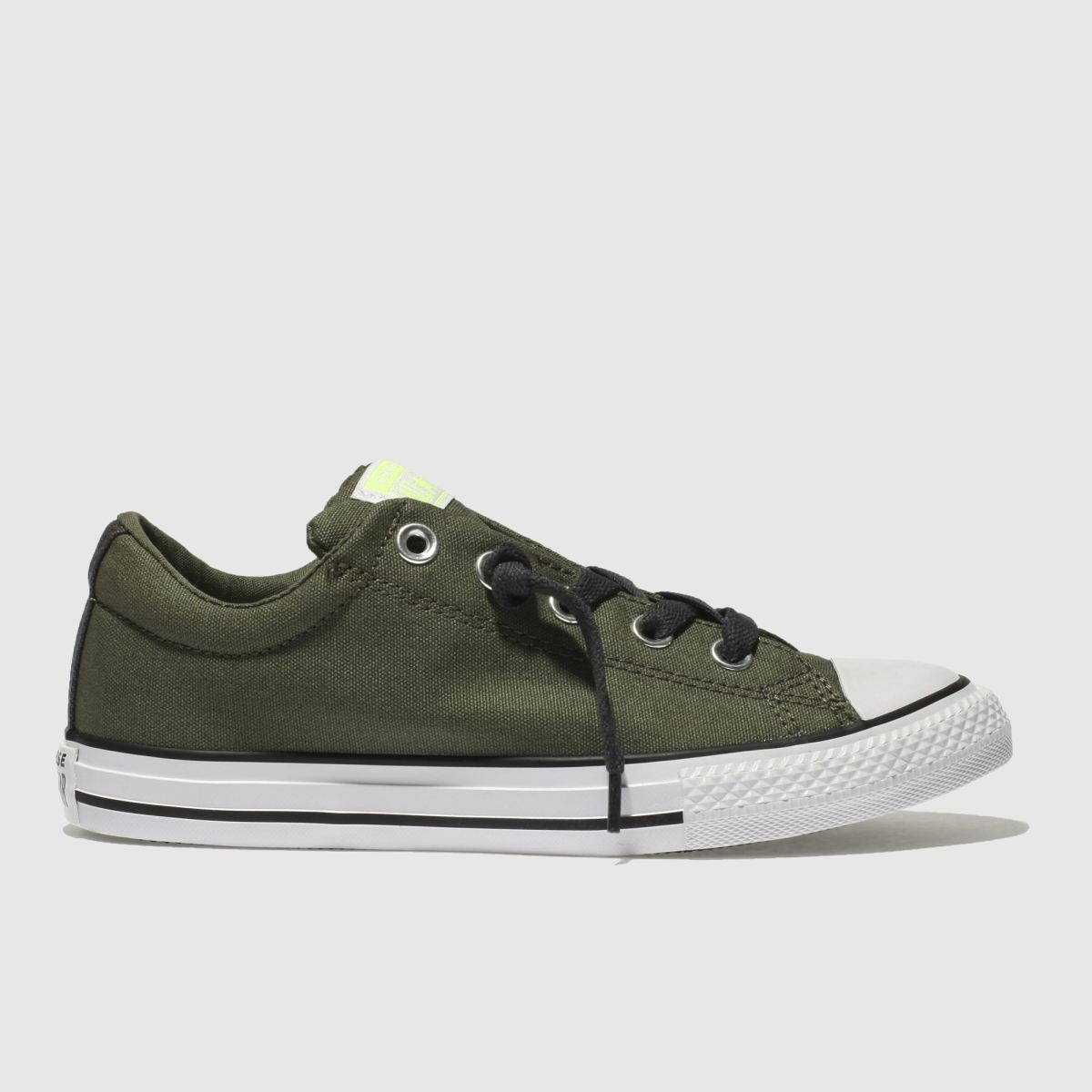 Converse Khaki All Star Street Slip Trainers Youth