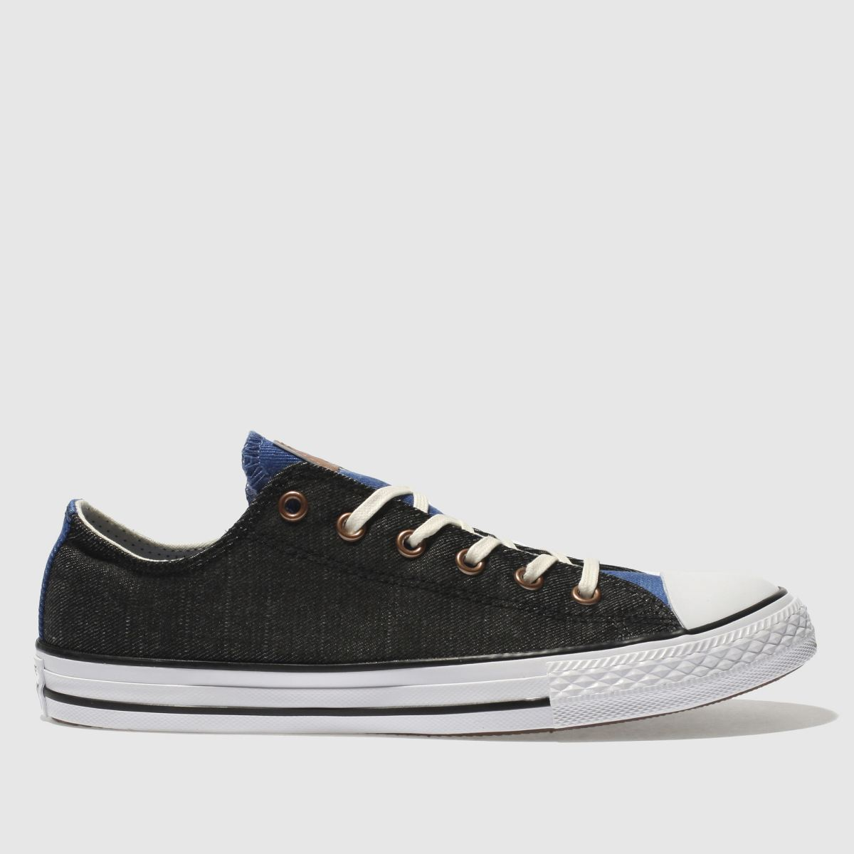 Converse Black And Blue Chuck Taylor All Star Lo Boys Youth Trainers