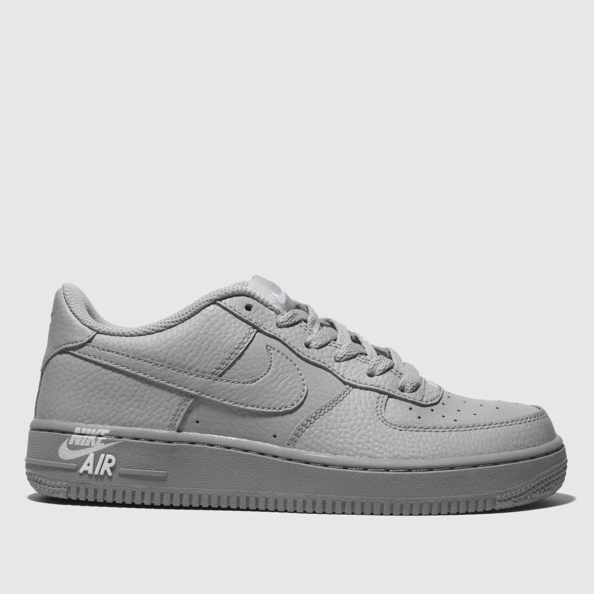 Nike Light Grey Air Force 1 Leather 2 Trainers Youth
