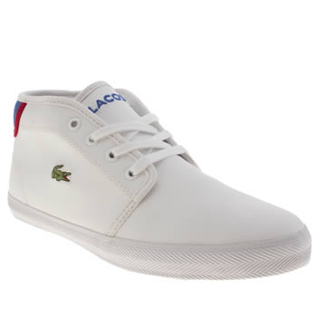 Lacoste White & Navy Ampthill Boys Youth