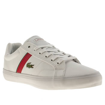Lacoste White & Red Fairlead Boys Youth