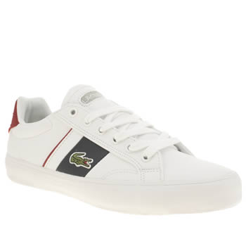 Lacoste White & Navy Fairlead Boys Youth